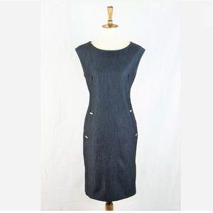 Calvin Klein Chambray Stretch Sheath Dress 12